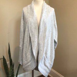 RD Style long grey speckled circle cardigan 3X